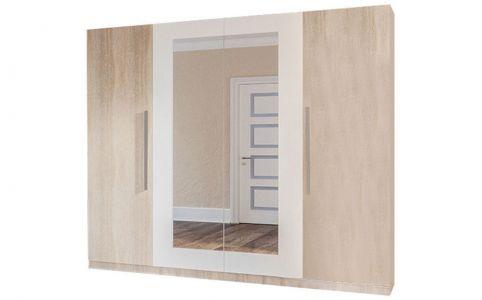 Шкаф 4-д «Лилея Нова» дуб сонома | белый