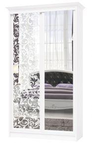 Шкаф купе «Венециано S0032» Белый + 77 вариантов рисунков