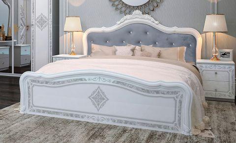 Фото Двуспальная кровать «Луиза Люкс с изножьем» - sofino.ua