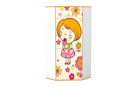 Угловой шкаф для одежды «Мандаринка»