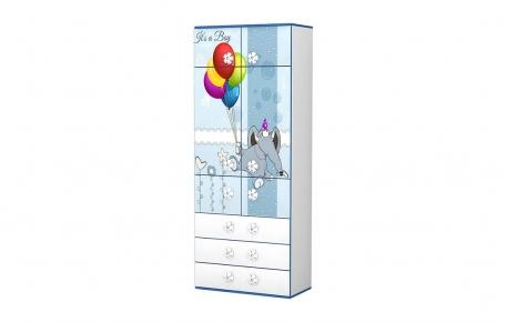 Шкаф для одежды с полками «Слоненятко»