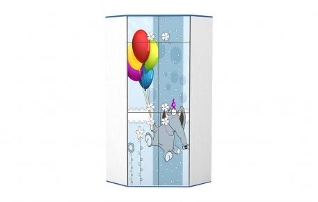 Угловой шкаф для одежды «Слоненятко»