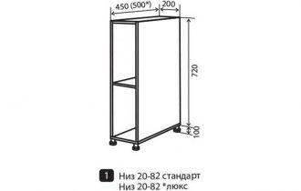 Фото Тумба №1 «Wood Line» 20*82 - sofino.ua