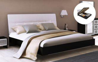 Фото Двуспальная кровать с механизмом «Виола М» | Черный мат - sofino.ua