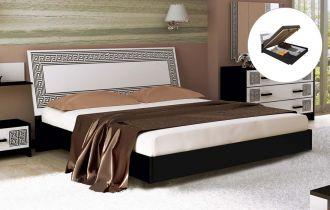 Фото Двуспальная кровать с механизмом «Виола» | Черный мат - sofino.ua