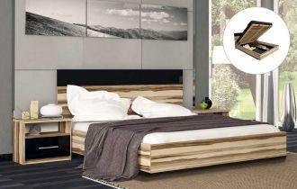 Фото Двуспальная кровать с механизмом «Соната» | Орех балтимор - sofino.ua