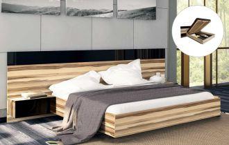 Фото Двуспальная кровать с механизмом «Соната с тумбами» | Орех балтимор - sofino.ua
