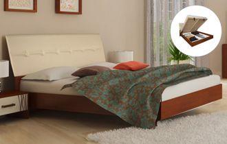 Фото Кровать «Терра» мягкая | Вишня бюзум - sofino.ua
