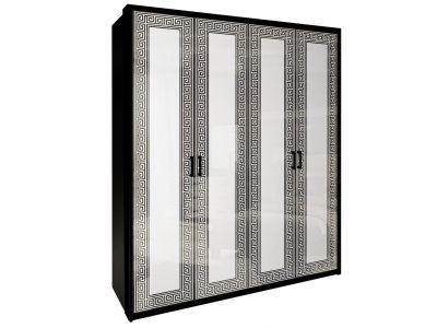 Шафа Міромарк «Віола 4Д» 212,5x182,6x55 Глянець білий + Мат чорний