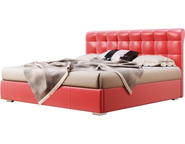 Фото Мягкая двуспальная кровать-подиум «Кантри» c подъемным механизмом - sofino.ua