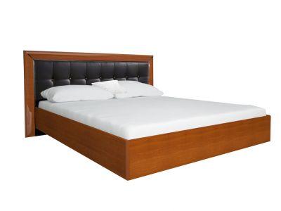 Ліжко Міромарк «Белла (М)» 160х200 (Без ламелей) Глянець чорний + Вишня бюзум