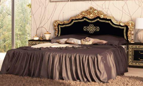 Фото Кровать «Jennifer» цвет черный глянец - sofino.ua