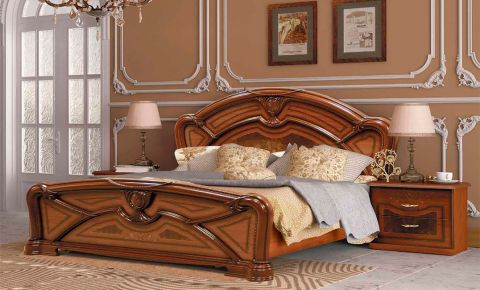 Фото Кровать «Примула» | Вишня бюзум - sofino.ua