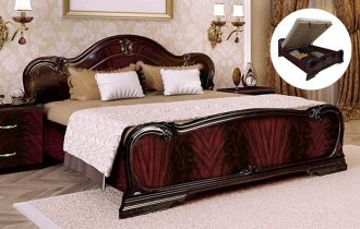 Фото Двуспальная кровать с механизмом «Футура»   Перо рубино - sofino.ua