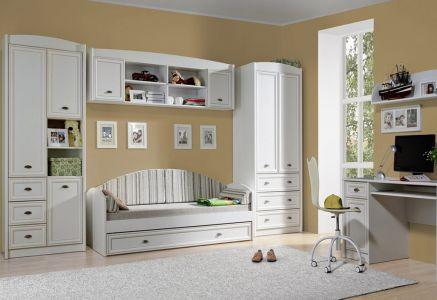 Дитяча кімната Салерно Гербор ДСП + МДФ (Стіл письмовий 1D1S + Шафа 2D3S + Шафа комбі 3D3S)