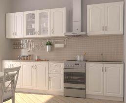 Фото Комплект кухни «Ника» 260 | классик белый супермат - sofino.ua