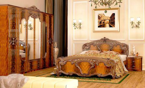 Фото Спальня «Олимпия» перо орех софт - sofino.ua