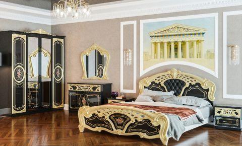 Фото Спальня «Кармен Нова Люкс» черный лак - sofino.ua