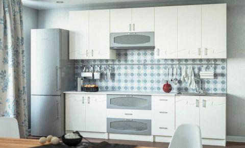 Кухня пряма - Світ Меблів - Імпульс - фасад МДФ - Білий Мат