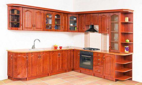 Фото Комплект угловой кухни «Оля» лак - sofino.ua