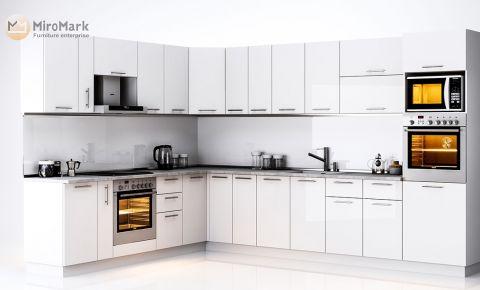 Фото Комплект угловой кухни «Бьянка» 3,4 м Белый глянец - sofino.ua