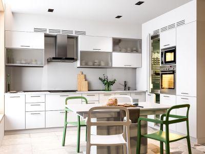 Кухня кутова Міромарк Бянка (ДСП Глянець Білий) 180х320 см
