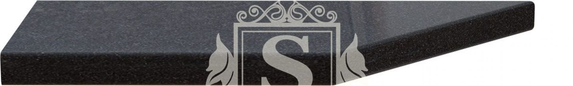 Фото Столешница угловая «Керамика черная» 180 см | 28 мм - sofino.ua