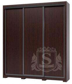Фото Шкаф купе 3 двери «Домино S0111» Венге - sofino.ua