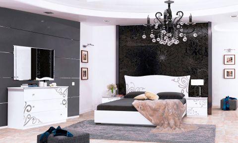 Фото Спальня «Богема Лайт» | Глянец белый - sofino.ua