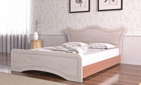 Фото Кровать «Ангелина» дуб молочный | орех лесной - sofino.ua