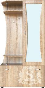 Фото Прихожая Визит МДФ, Каркас- Темный венге, Фасад- Дуб светлый  2П  зеркало есть Пехотин PR002 - sofino.ua
