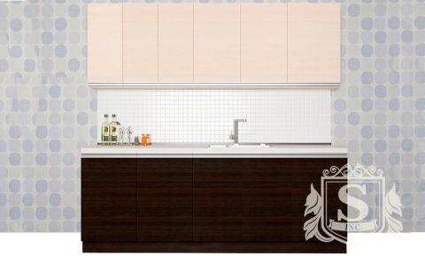 Фото Кухня  «Альбина» №594494 Дуб молочный | Венге - sofino.ua