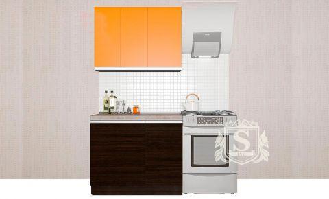 Фото Кухня  «Альбина» №594506 Оранжевый | Венге - sofino.ua