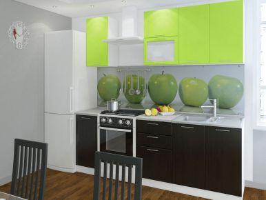 Фото Кухня  «Колор-микс» №594956 Салатовый | Шоколадный - sofino.ua