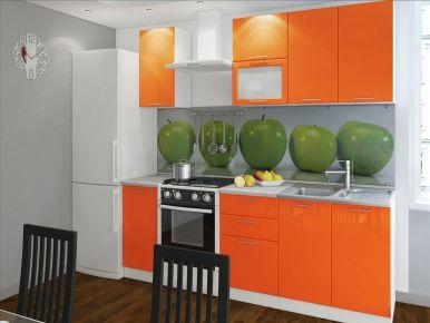 Фото Кухня  «Колор-микс» №594957 Оранжевй  - sofino.ua