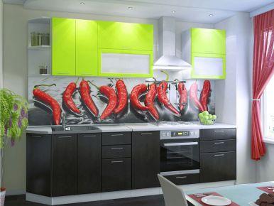 Фото Кухня  «Колор-микс» №594960 Салатовый | Шоколадный - sofino.ua
