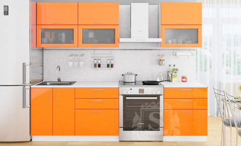 Фото Кухня  «Колор-микс» №595776 Оранжевй  - sofino.ua