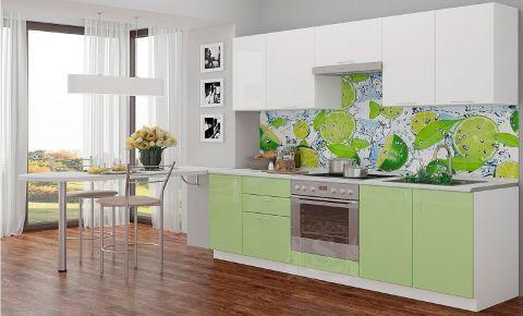 Фото Кухня  «Колор-микс» №595783 Оливковый | Белый - sofino.ua