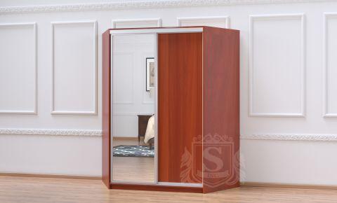 Угловой шкаф-купе 2 двери «Софино Премиум» Зеркало + ДСП