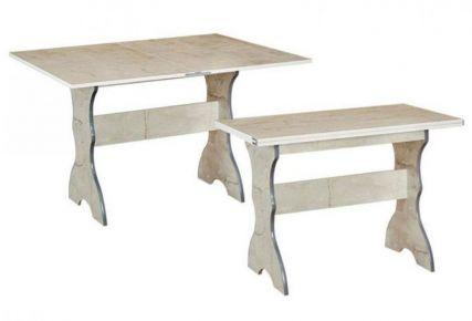 Фото Кухонный стол «Раскладной-1»  Цвет изделия: Лесной орех - sofino.ua