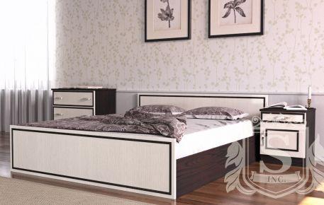 Фото Кровать 2-сп 160*200 «Ким» венге светлый  - sofino.ua
