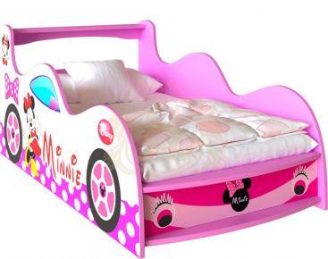 Фото Кровать-машинка «Minnie Mouse» цвет: розовый   90*155 - sofino.ua