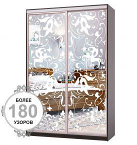 Фото Шкаф-купе «Премиум» 2 двери: Пескоструйный рисунок, ширина от 100 см - 200 см - sofino.ua