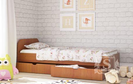 Фото Кровать детская «Соня-1» с ящиками, Лесной орех - sofino.ua