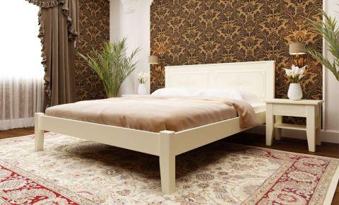 Фото Кровать «Майя низкое изножье» Дубовый Шпон - sofino.ua