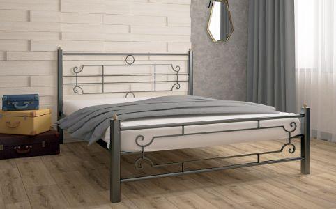Ліжко для спальні Скам'я Вінтаж Квадрат Метал