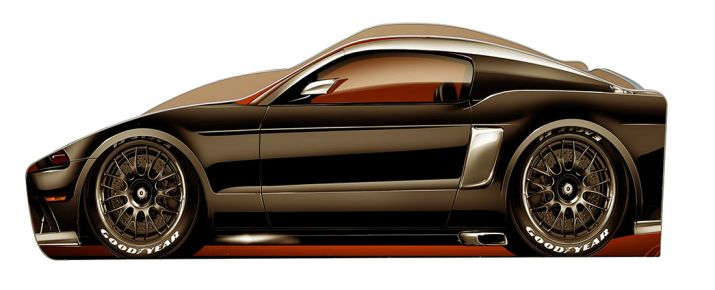 Фото Кровать детская «Бренд Б-0014   Ford-Mustang» 70*140 - sofino.ua