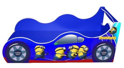 Фото Кровать детская «Драйв Д-0010   Миньон синий» 70*140 - sofino.ua