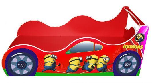Фото Кровать детская «Драйв Д-0012   Миньон красный» 70*140 - sofino.ua