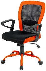 Кресло «Leno grey/orange»